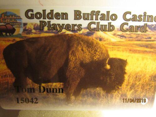 Golden Buffalo Casino-Lower Brule,S.D.- players club slot card -mint