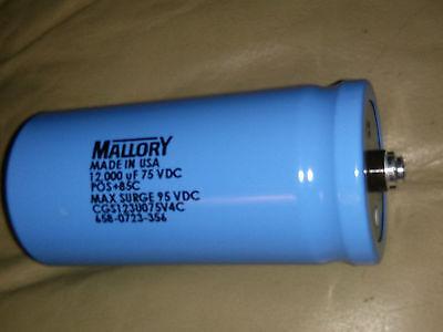 Cdemallory Cgs123u075v4c Capacitor - Screw Terminal 12000uf 75v -1075