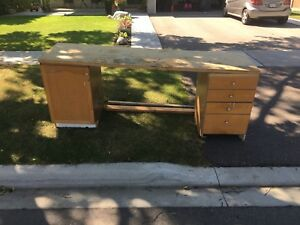 Free bench and cabinets