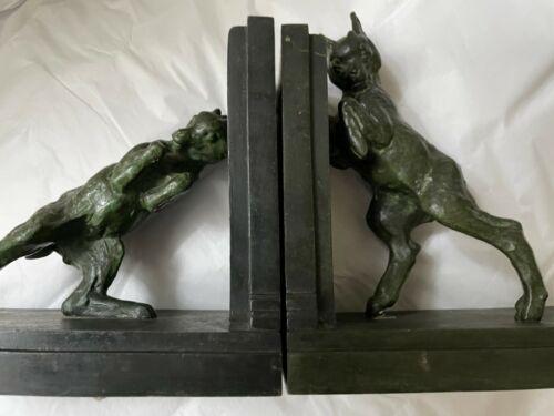 Antique Emile Carlier (1849-1927) ART SCULPTURE Bronze Rams / FR Foundry marks