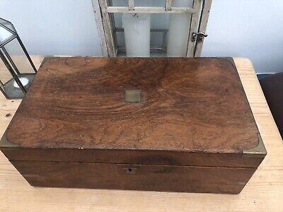 Vintage World War I Period Oak (?) Writing Slope - Part Restored Needs Finishing