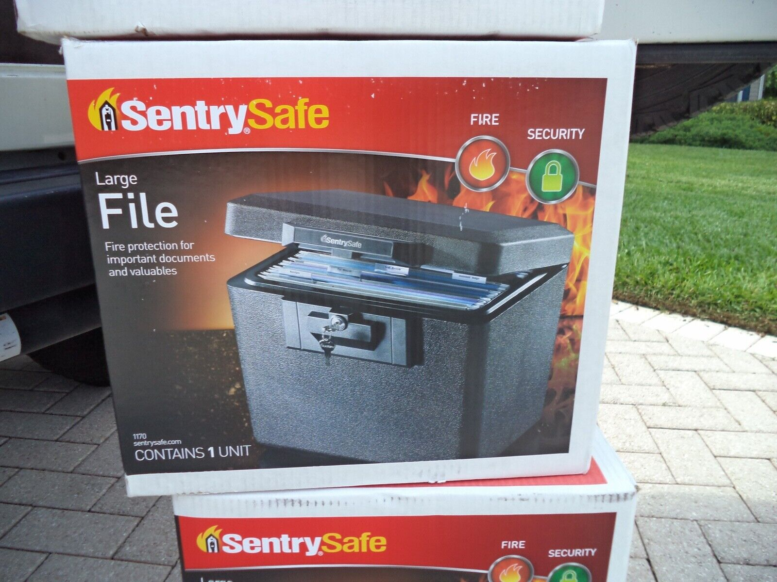 DOCUMENT SAFE FIREPROOF SentrySafe Locking File Storage Ches