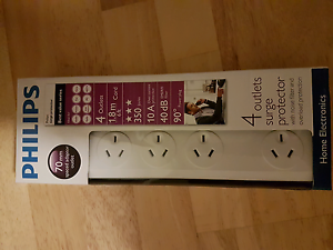 Philips 4 outlet surge protector power board Cabramatta Fairfield Area Preview