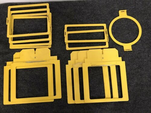 Used Lot Of 12 Hoop Tech Embroidery Tubular Clamping  Windows Yellow Q06-1