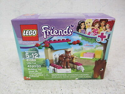 New LEGO Friends Little Foal 41089 - Stable Stall & Brown Baby Horse
