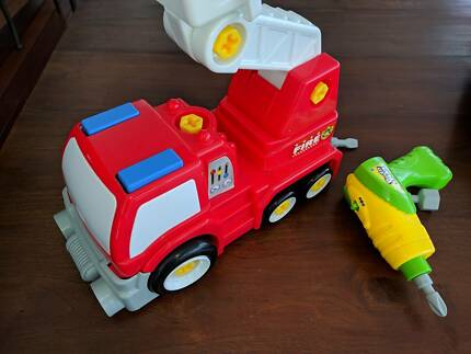 Build and Play take apart fire engine and drill