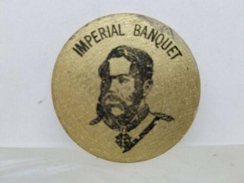 1968 Royal Hawaiian Travel Industry Mgt Club Imperial Banquet Wooden Token Gold - $10.00