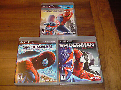 Spider-Man PlayStation 3 Lot Shattered Dimensions Edge of Time Amazing PS3