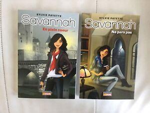 Livre collection Savannah ( 2 livres) 2 pour 5$