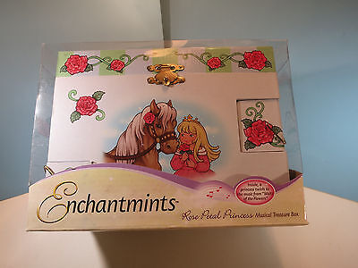 Music Treasure Box - ENCHANTMINTS Musical Treasure Box For Children By Reeves-Rose Petal Princess-NIB