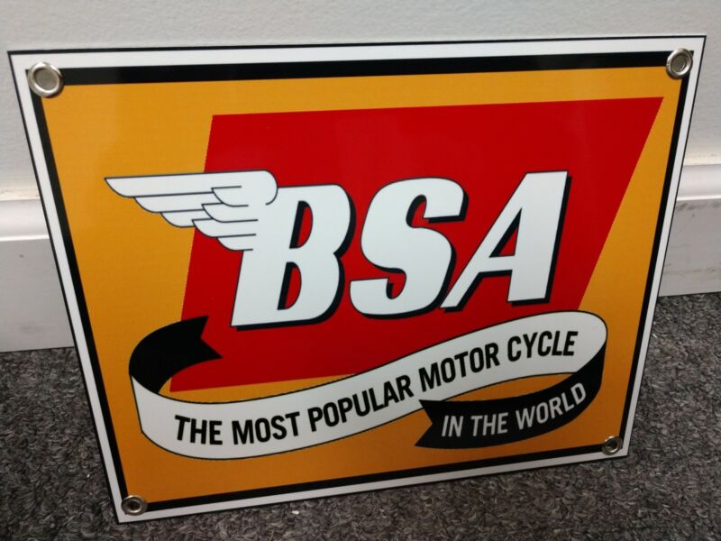 BSA motorcycle sign