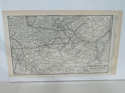 Original map of the Baltimore and Ohio Railroad System ~ 1904