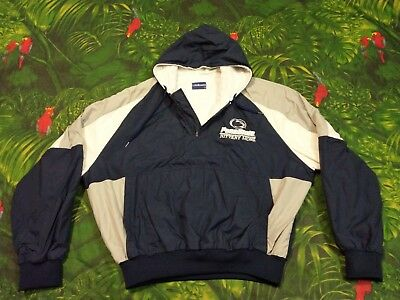 Womens NCAA Penn State Hoodie Jacket Size XXL Half Zip Blue Holloway