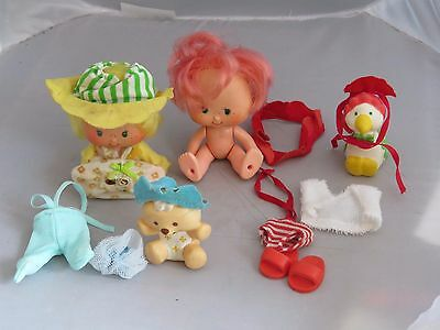 Vintage Strawberry Shortcake Kirsche Cuddler & Butter Keks Beere Kleidung ()