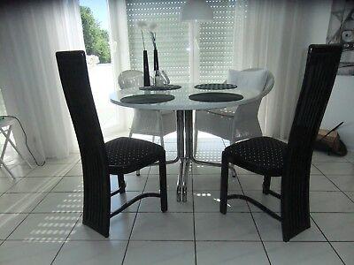 ESSZIMMERSTUHL- 2er-Set, Lack-Schwarz, Rücken-Hochlehne einwandfreier Zustand - Lack Schwarz Stuhl