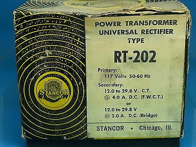 Stancor Rt-202 Nsfp Rt202 Transformer 117 To 12 To 29.8 V 4 Watts Or
