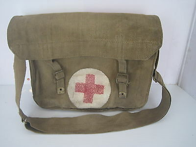 BRITISH WWII WW2 CANVAS MEDICS BAG DATED 1942