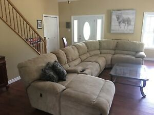 Suede Sectional Sofa Couch