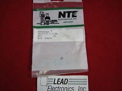 ECG5004A//NTE5004A ZENER DIODE 3.0 VOLT  1//2 WATT DO-35 2 PCS LOT