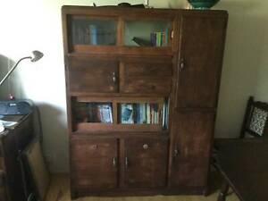 Vintage wooden kitchen cupboard