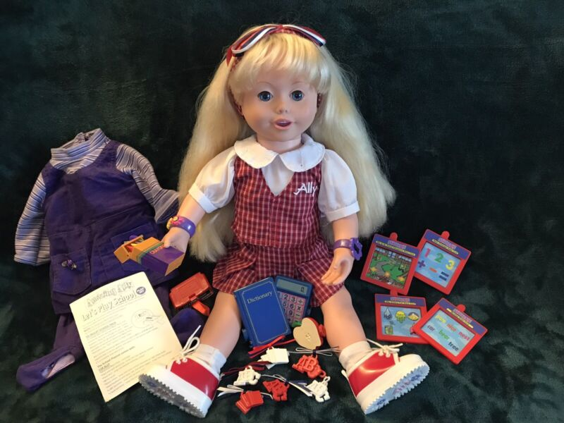 1999 Amazing Ally Interactive Doll W/ Let's Play School Accessories -Works Great