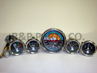 Oil Temp Amp Tachometer Fuel Gauge Set For Farmall Ih International 340 Diesel