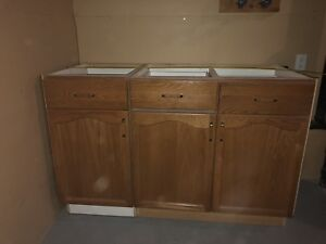 Oak Cabinet 53 1/2 inches $30