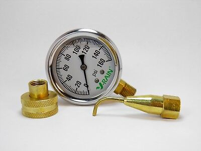 COMPLETE PSI CHECK KIT AT THE FAUCET OR THE SPRINKLER- GAUGE N PITOT TUBE 160PSI