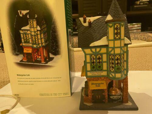 "Dept 56 Christmas in the City ""Wintergarten Cafe"" retired 1999"