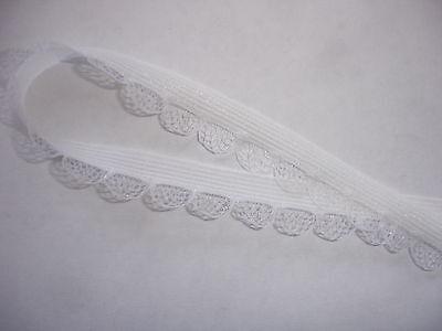 10m elastische Spitze 0,24€/m weiß, 10mm breit   MP8