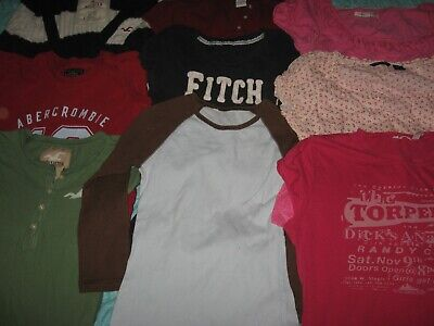 U PICK 1 Abercrombie Fitch Hollister T Shirt Top Junior Size Small Medium Extra