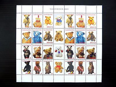 SURINAME 2004 Teddy Bears Complete Sheetlet U/M FP9596