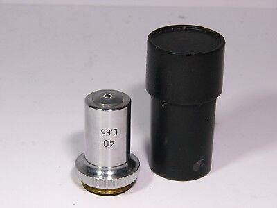 Microscope Objective 40x 065 75426 Lomo With Case