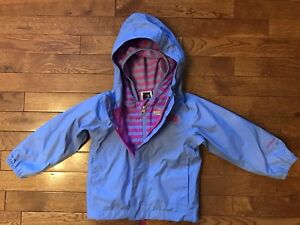 Like New Girl Size 2T North Face HyVent Rain Jacket & Fleece