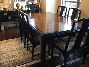 Elegant Chin Hua Dining Table and chairs by Century