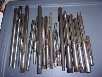 Lot Of 18 Used Vintage Reamer Reamers Usa Various Types Machinist