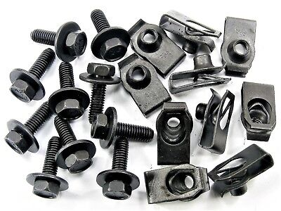 For Nissan Body Bolts & U-nut Clips- M6-1.0mm x 20mm Long- 10mm Hex- 20pcs- #150