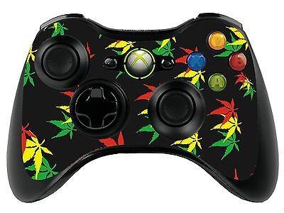 Weed Leaf Xbox 360 Remote Controller/Gamepad Skin / Cover / Vinyl  xbr36