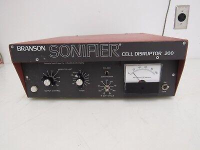 Branson W-200p Sonifier Cell Disruptor 1 Year Warranty