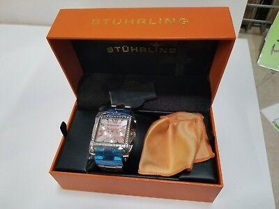 Stuhrling Victoria Women's Silver Steel Bracelet & Case krysterna Watch 540.01