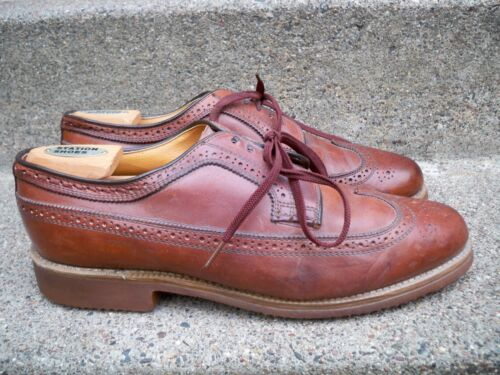 Dexter Made in USAl Wingtips Oxfords Shoes Shell Leather Brown Size 11.5 Vintage