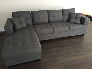Grey sectional for sale.