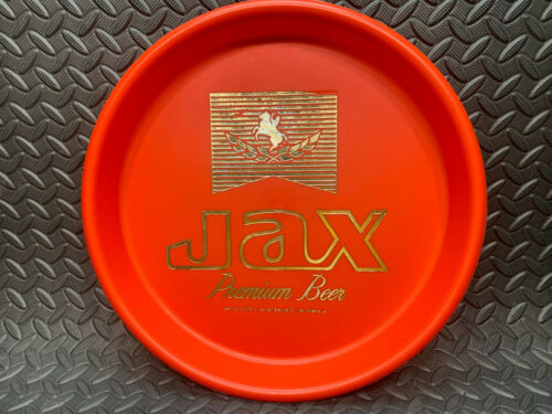 Vintage Jax Beer Brewery of New Orleans Red with Gold Leaf Plastic Serving Tray