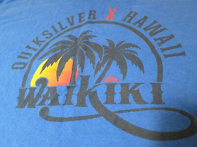 Quiksilver Waikiki Hawaii Sunset Palm Surf Shirt Aloha Nice L, used for sale  Huntington Beach