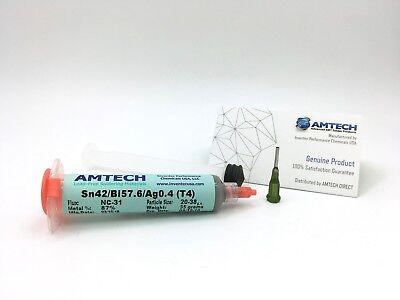 Amtech Sn42bi57.6ag0.4 T4 No-clean Lead-free Low-temp Solder Paste 35g
