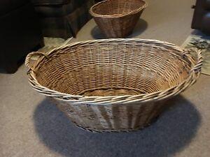 Wicker baskets / laundry hampers for sale