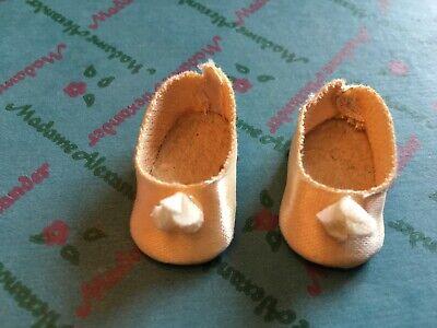 """Original Cream shoes for 8"""" Madame Alexander dolls"""