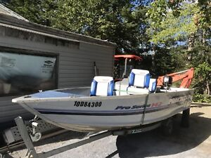 Princecraft 14ft fishing boat, motor and trailer for sale