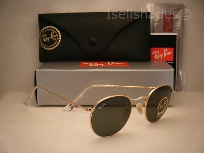 Ray Ban 3447 Gold W Green Crystal  G 15  Lens  Rb3447 001 47Mm Size
