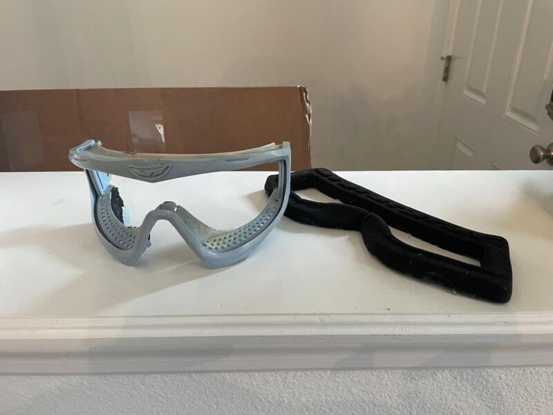 Jt Hb Baby Blue Frames Paintball Mask Proflex - Foam Not Attached